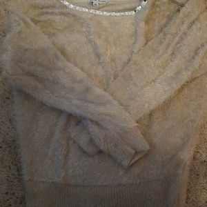 Fluffy sparkly sweater